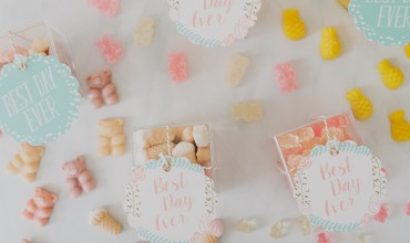 DIY Wedding Favor Candy Boxes