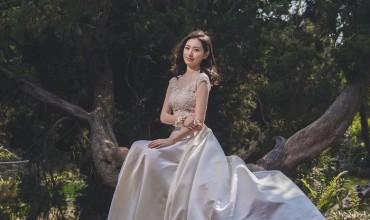 矮個子婚紗很難拍?這4個姿勢讓妳瞬間變成170