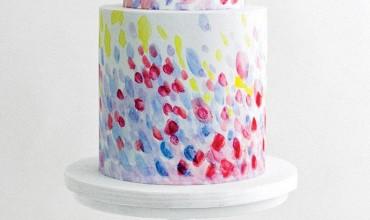 These Brushstroke Wedding Cakes Are Legit Works of Art