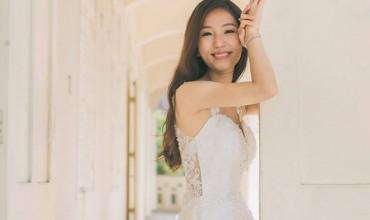 愛笑的新娘是特別漂亮的