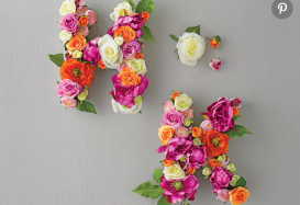 Go Garden Chic with this Floral Monogram DIY