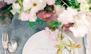 spring colors table setting