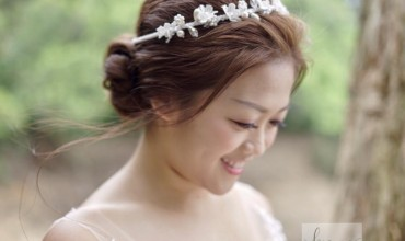 pretty bridal in pre wedding