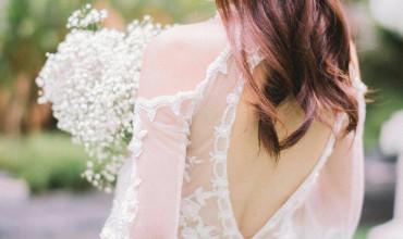 仙氣的新娘子,精巧的婚紗,是完美的大日子!