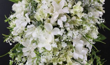 Lily of the valley teardrop bridal bouquet