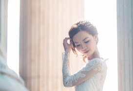 Vintage style wedding gown in London