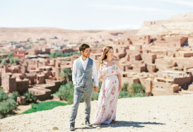 We can't wait to share these beautiful images that we took at this ancient town with ultimate blue sky in Morocco!