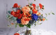 橙色襯深藍,好有型!