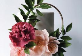 Elizabeth & Conrad wedding cake