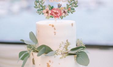 給自己親手做的結婚蛋糕